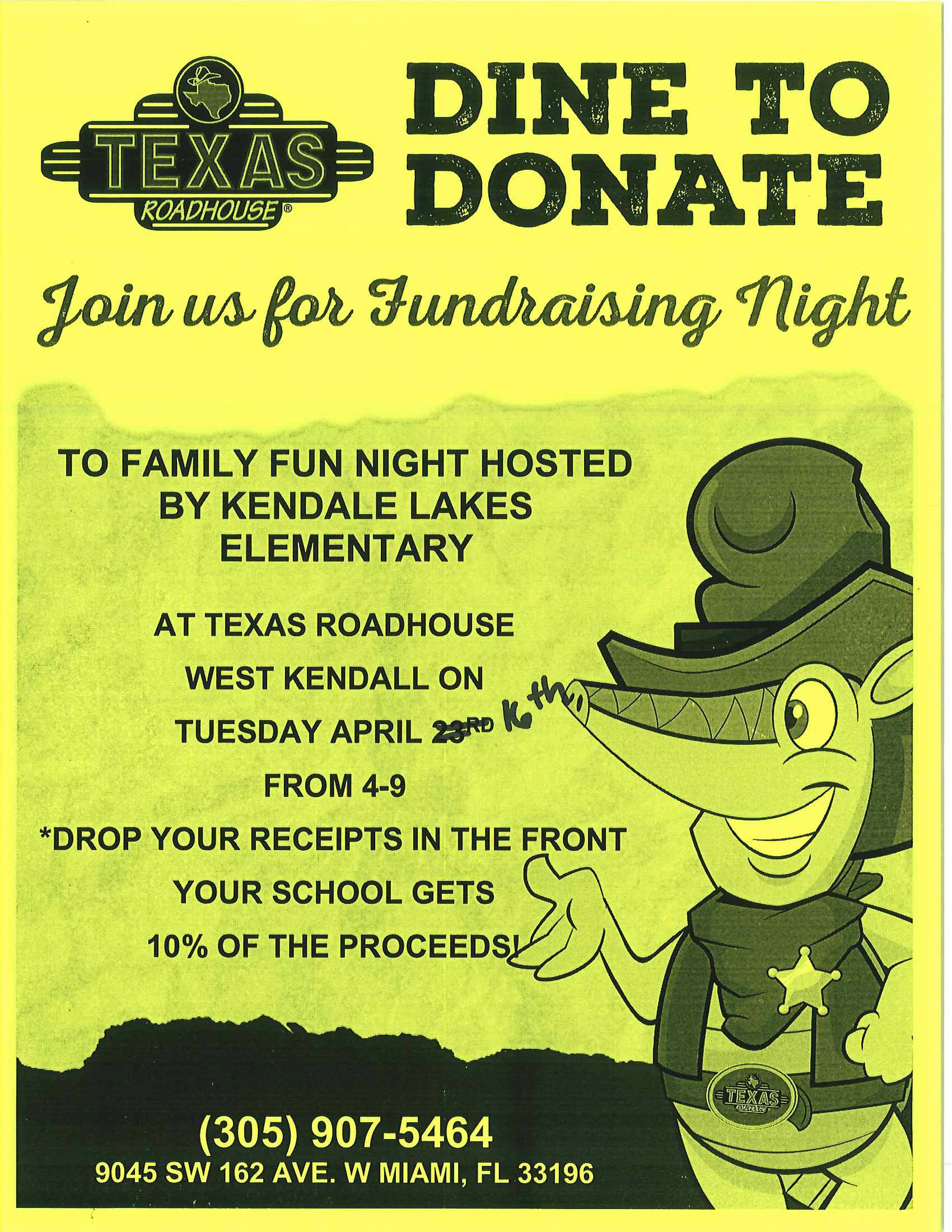 Texas Roadhouse Family Night