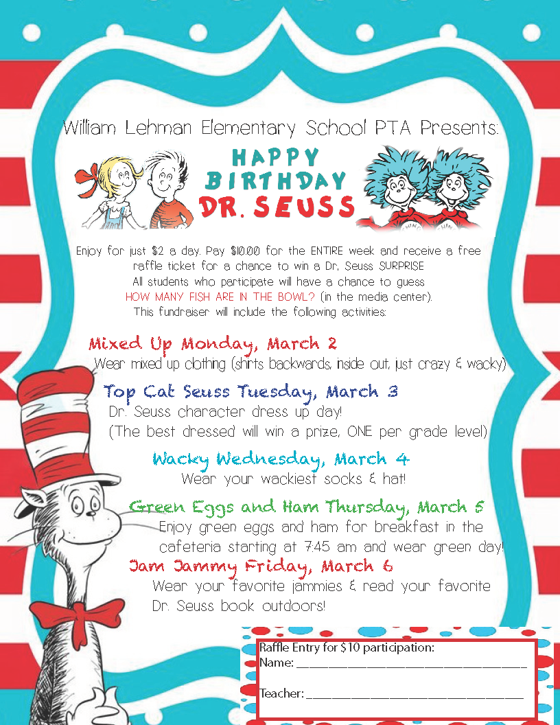 Dr. Seuss Week Flyer
