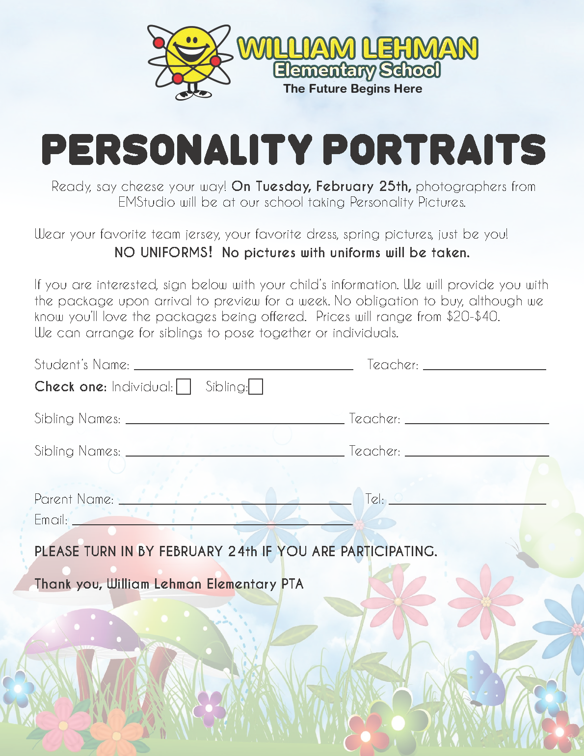 Personality Portraits Flyer